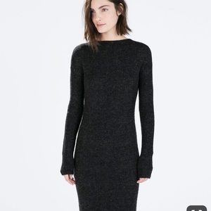 Zara knit sweater dress with wrap flap in back med